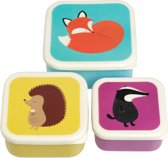 Set snack bakje/opberg bakjes met dieren