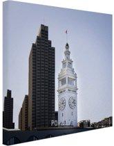 Haven van San Francisco Canvas 60x40 cm - Foto print op Canvas schilderij (Wanddecoratie)