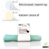 3 BMT glansdoek microvezel absorbeert 4xeigen gewicht - 28x28cm