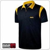 One80 Dartshirt Zwart met gele accenten  Per stuk 5XL