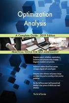 Optimization Analysis A Complete Guide - 2019 Edition