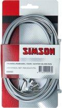 Simson Remkabel Trommel RVS Universeel Compleet Zilver