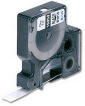 Dymo D1 (45013) beletterings tape 12 mm / Zwart op Wit (huismerk)