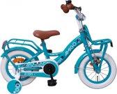 Amigo Bloom - Kinderfiets - Meisjes - Turquoise - 12 Inch