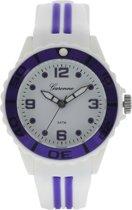 Garonne Kids horloge Wit/Paars KQ27Q445