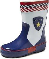 Gevavi Boots Politie Rubber Blauw Wit Regenlaarzen Kinderen