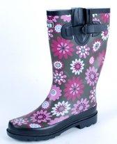 Gevavi Boots Jade dameslaars rubber roze/bruin 37