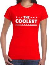 The Coolest tekst t-shirt rood dames - dames shirt The Coolest XS