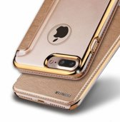 Xundd - iPhone 7 Plus / iPhone 8 Plus (5.5 inch) Folio Flip PU Leather hoesje + Pasjes met hard transparant back cover Rose Goud