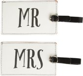MR & MRS KOFFERLABEL BAGAGELABEL | WIT/ZWART | MONOCHROME | SASS & BELLE