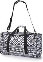 5Cities Lichtgewicht reistas/sporttas (handbagage) Zwart/Wit design 32L