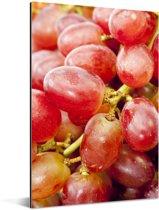 Doordringende kleuren van de rode druiven Aluminium 40x60 cm - Foto print op Aluminium (metaal wanddecoratie)