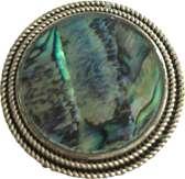 Petra's Sieradenwereld - Magneetbroche rond met Paua steen