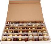 Kerstballen Opbergbox - 3 stuks vakjesdozen voor 54 Kerstballen van 6 cm