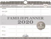 Hobbit familieplanner spiraal kalender D2 weekkalender 2020 voor maximaal 5 personen (formaat A4)