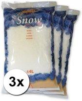 3x zakken Kunstsneeuw  van 4 liter per stuk