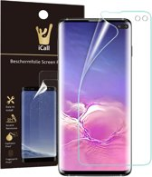 Samsung Galaxy S10 Plus Screenprotector | Glas PET Folie Screen Protector Transparant iCall | Full-Screen