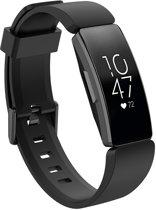 KELERINO. Siliconen bandje voor Fitbit Inspire (HR) - Zwart - Small