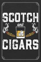 Scotch and Cigars: Whiskey Alcohol Bartender 120 Page Blank Lined Notebook Journal
