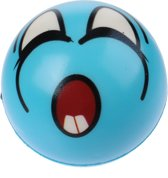 Toi-toys Bal Funy Face 8 Cm Blauw