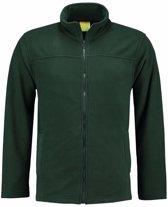 Donkergroen fleece vest met rits voor volwassenen 2XL (44/56)