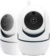 Indoor IP Huiskamer Camera Beveiliging Inc. 32GB SD Kaart WiFi Full HD 360 graden zicht
