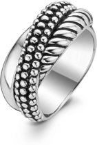 TI SENTO Milano Ring 1973SB - Maat 60 (19 mm) - Gerhodineerd Sterling Zilver
