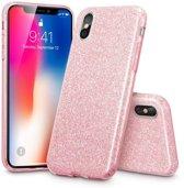 ESR iPhone 8 Plus hoes roze glitters chique design zacht TPU
