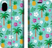 Mobigear Tropical Design Wallet Bookcase Hoesje 4 iPhone Xs Max