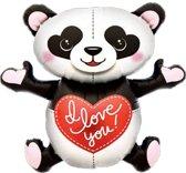 Folieballon I Love You Panda (109cm)