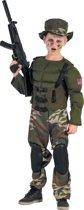 Gespierd Amerikaans soldatenkostuum voor jongens - Verkleedkleding