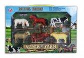 Speelgoed set plastic boerderij dieren 6 stuks