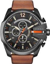 Diesel - Horloge - Leer - Bruin - 51 mm