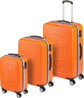 Princess Traveller Rio Kofferset 55 67 78 cm Polycarbonaat Oranje