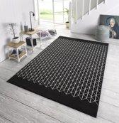 Design Vloerkleed Twist 200x290 cm Zwart & Wit