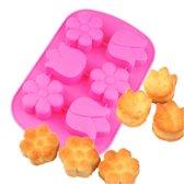 Kitchen Princess - Siliconen Bakvorm Cupcake Bloemen Tulpen - 6 Stuks
