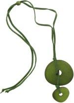 Behave® Dames lange ketting groen met hangers 65 cm
