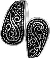 Lucardi - Zilveren ring bewerkt breed Bali