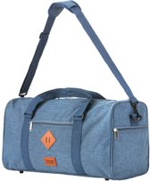 TravelZ - Hipster - Reistas 36 liter - Weekendtas - Jeans Blauw