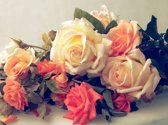 Papermoon Vintage Roses Vlies Fotobehang 350x260cm 7-Banen