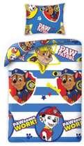 Paw Patrol Dekbedovertrek  - Pawsome - eenpersoons met kussensloop - 100% katoen