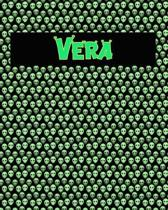 120 Page Handwriting Practice Book with Green Alien Cover Vera