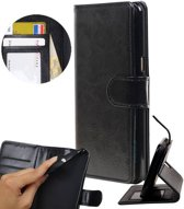 | Huawei P8 Lite Portemonnee hoesje booktype wallet case Zwart | WN™