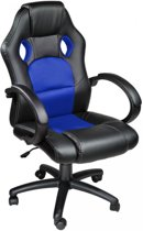 Tectake - Luxe design racing - Bureaustoel - Blauw/zwart