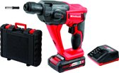 EINHELL Accu Boorhamer TE-HD 18 Li Kit - Power-X-Change - 18 V - 9,9 Nm - 1,2 J - SDS-plus - Inclusief 1x 1,5 Ah accu / 1x lader / koffer
