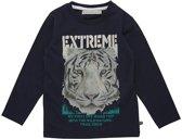 Minymo - jongens shirt - lange mouwen - lion - blauw - Maat 110