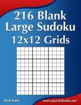 216 Blank Large Sudoku 12x12 Grids