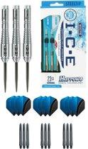 Harrows - ICE 23 gram Ringed grip - dartpijlen - plus 3 sets - dartshafts - en 3 sets - dartflights