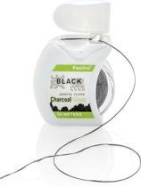 Activated Charcoal Flosdraad (50 meter) om uw Tanden Thuis of Onderweg 100% Natuurlijk Witter te maken en voor Gezond Tandvlees