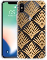 Apple iPhone Xs Hoesje Art Deco Gold